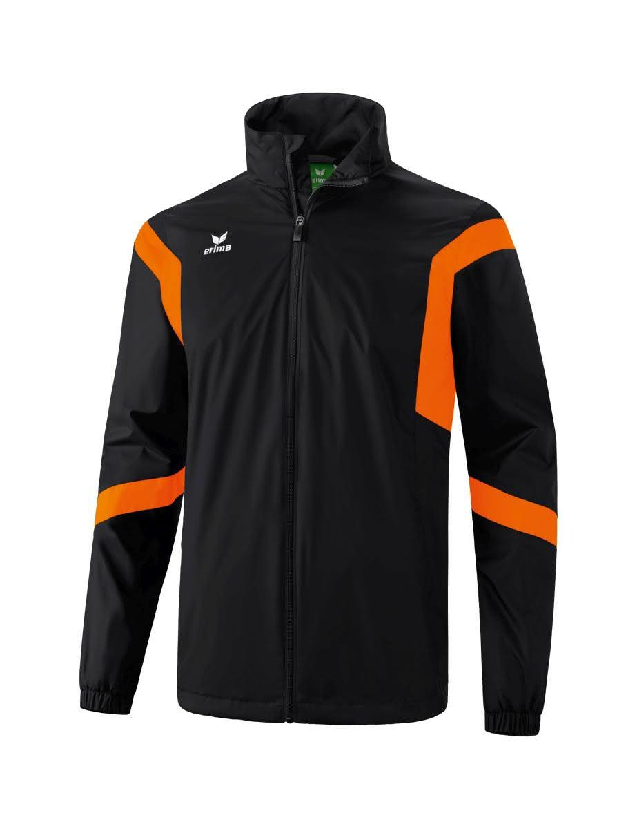 Erima Classic Team Regenjacke Schwarz/Orange