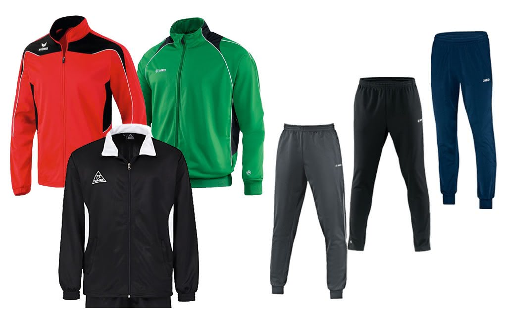 6-teiliges Paket (3 Trainingsjacken, 3 Trainingshosen)