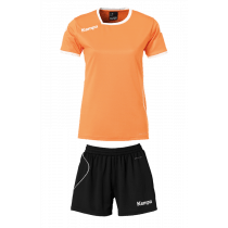 "Kempa Trikot-Set ""Curve"" Damen Orange/Schwarz"
