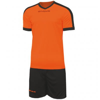 "Givova Trikot-Set ""Revolution"" Orange/Schwarz"